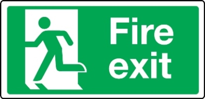 6684 - Extra Large Fire Exit Final Sign