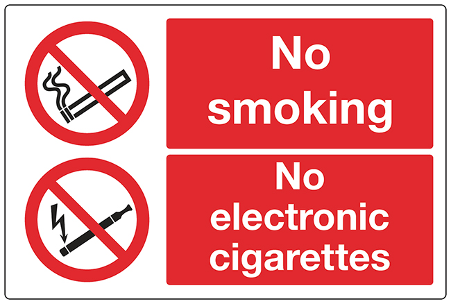No smoking / no ecigs sign