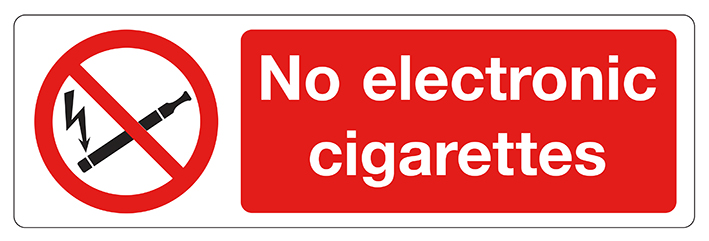 No electronic cigarettes