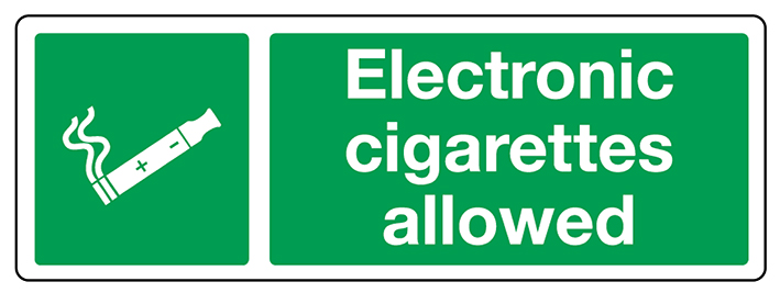 Electronic cigarettes allowed
