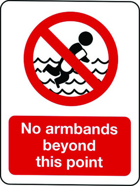 No armbands beyond this point sign