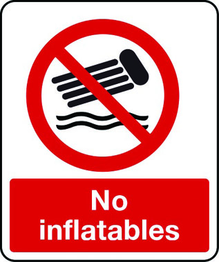 No inflatables sign | Stocksigns