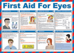 posters first aid for eyes poster stocksigns rh stocksigns co uk First Aid Information to Print Printable First Aid Poster