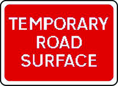 Temporary road surface warning sign