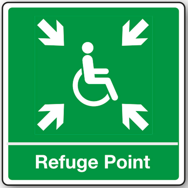External disabled refuge point sign