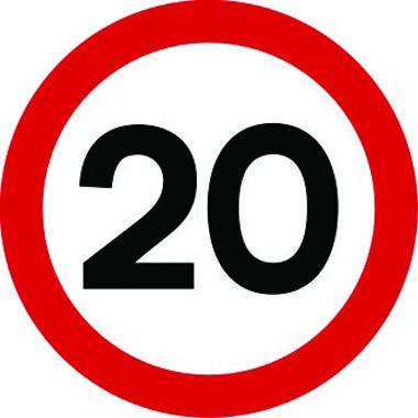 20mph traffic sign