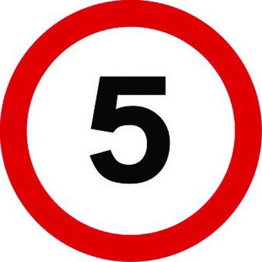 5mph traffic sign