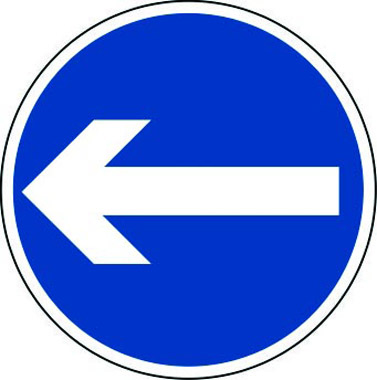 Arrow left sign