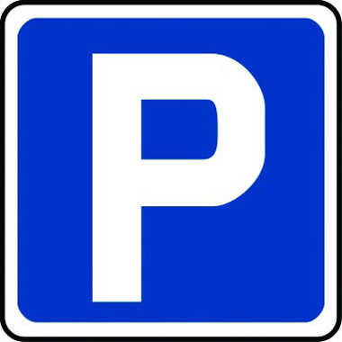 Traffic P Parking Symbol Fig 801 500 X 500mm Class 2