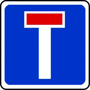 No through-road traffic sign