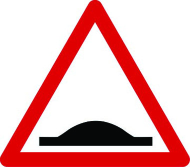Speed ramp triangle sign
