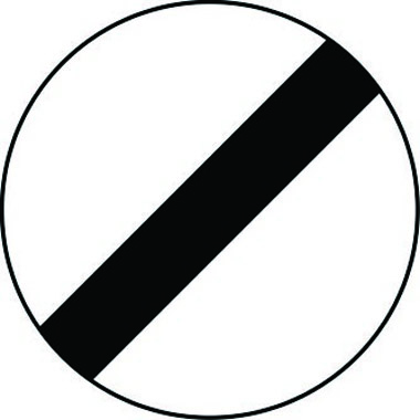 De-restriction reflective traffic sign