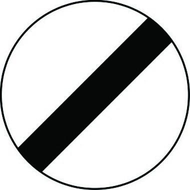 De-restriction reflective traffic sign