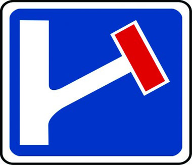 No through-road right traffic sign
