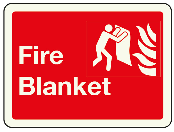 Fire blankets sign
