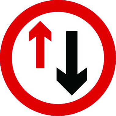 Priority lane traffic sign