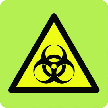 Hazard Biohazard Symbol In Photoluminescent Sign Stocksigns