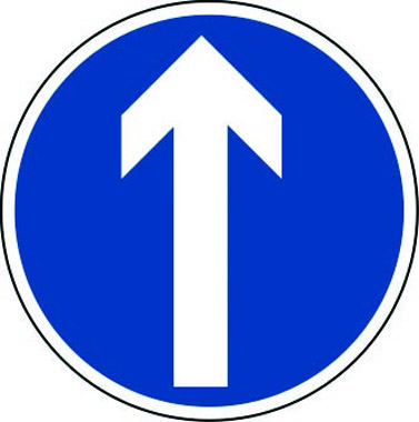 Arrow pointing up traffic sign