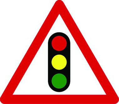 Traffic signals ahead sign