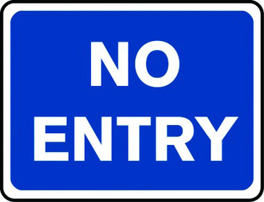 No entry reflective traffic sign