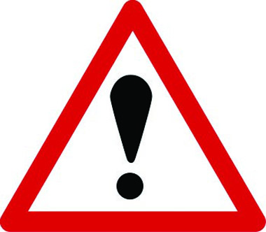 Other danger ahead exclamation mark traffic sign