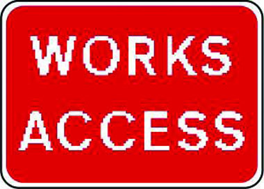 Works access traffic sign