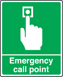 7774 Emergency call point sign