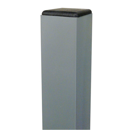 Square sign post aluminum with powder coat grey