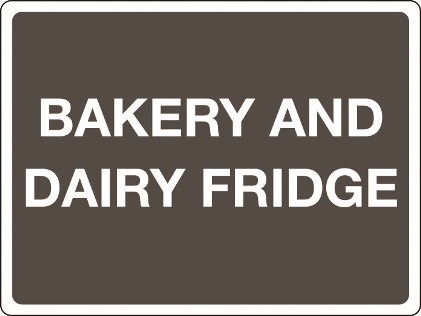2988- bakery and dairy fridge
