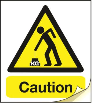 caution heavy label