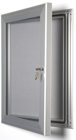 Key lockable pin board frame