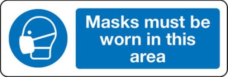 2831 - masks must be worn in this area