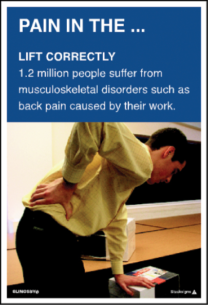Lift Correctly Poster