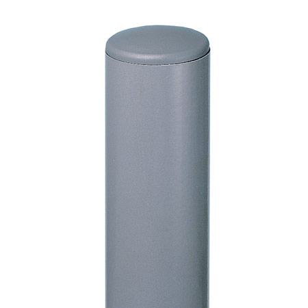 Galvanised steel post, grey powder coated grey