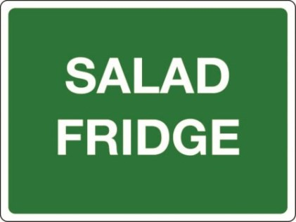 2979 - catering signs - salad fridge