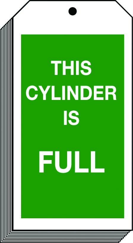 This cylinder is full sign