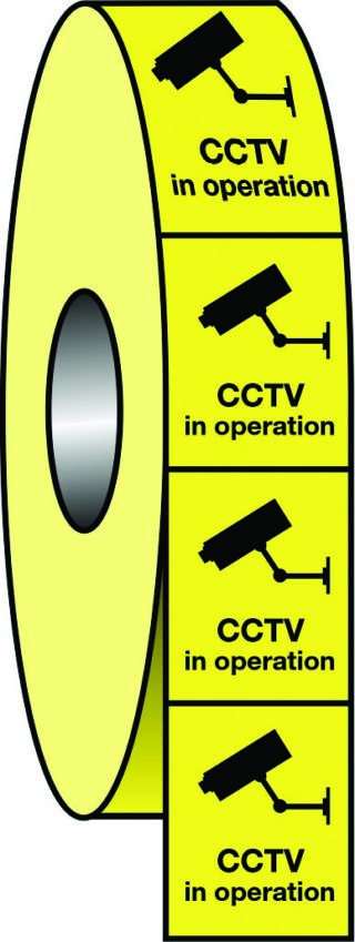 CCTV in operation roll tape