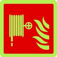 Fire Hose Reel Photo-luminescent Sign