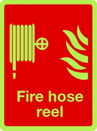 Fire Hose Reel Photo luminescent sign