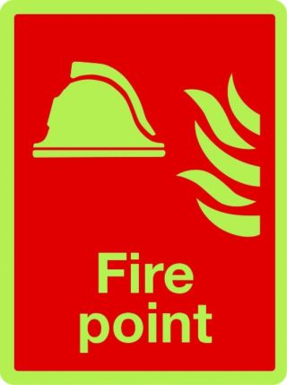 Fire Point Photo luminescent sign