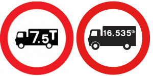 Good vehicle weight restriction