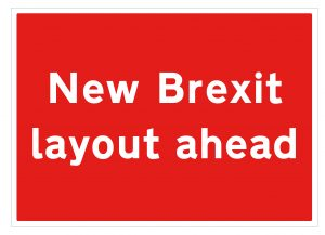 Brexit layout sign