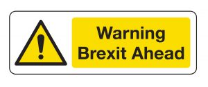 Warning Brexit ahead sign