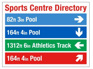 Sports centre directory