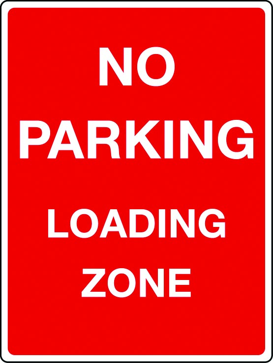 No parking, loading zone