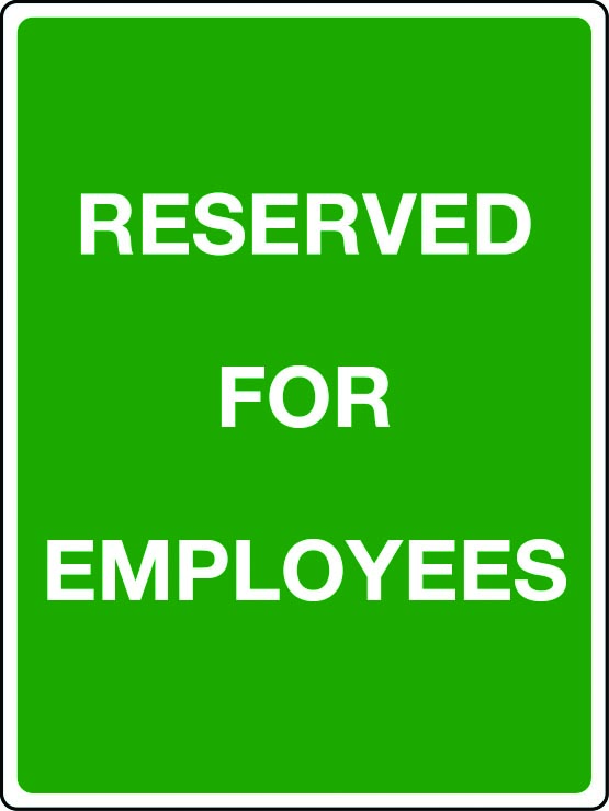 Reserved for employees