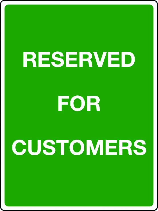 Reserved for customers