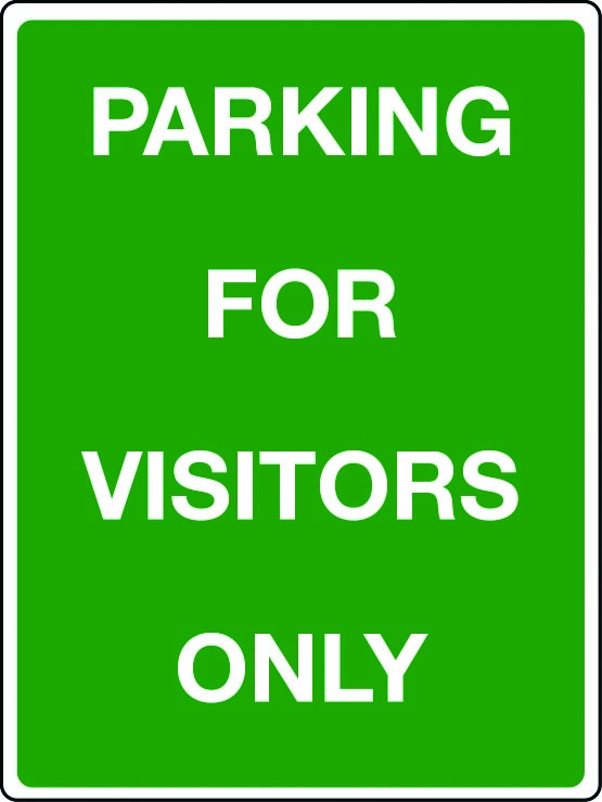 Parking for visitors only