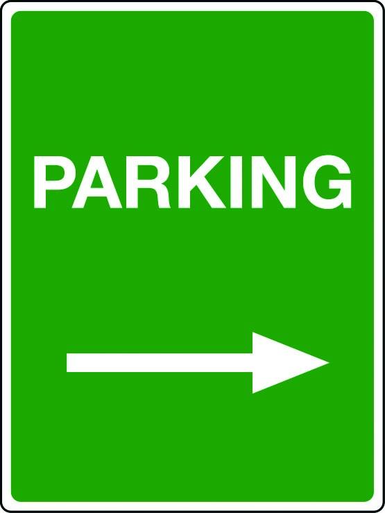 Parking arrow right