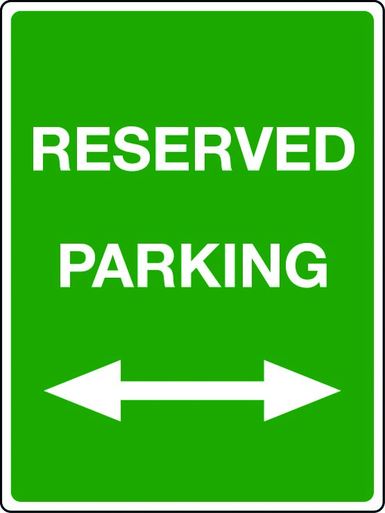Reserved parking double arrow
